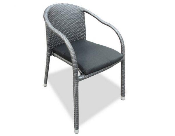 "Плетеный стул ""Lotus"", цвет темно-серый"