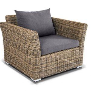 """Плетеное кресло """"Капучино"""", цвет серо-желтый"""