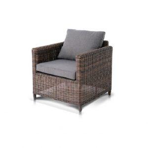 """Плетеное кресло """"Макиато"""", цвет темно-коричневый"""