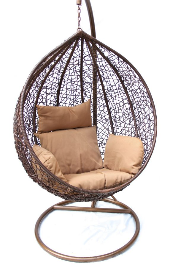 "Подвесное плетеное кресло ""Desert"" KM-0001 dark small"