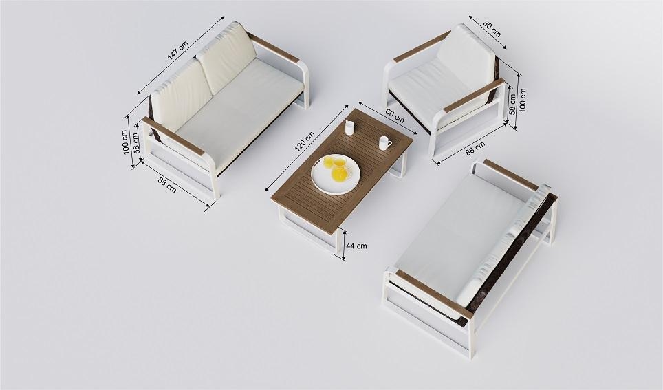 """Комплект садовой мебели из алюминия """"Primavera"""""""