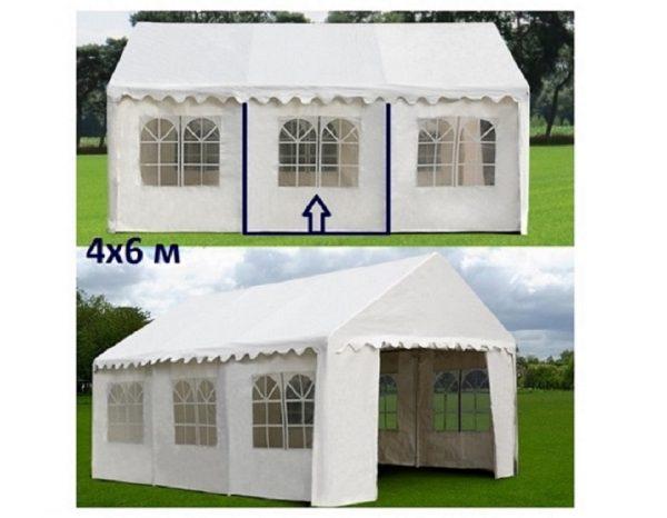 """Шатер-павильон садовый 4×6 """"AFM-1026W"""", белый"""