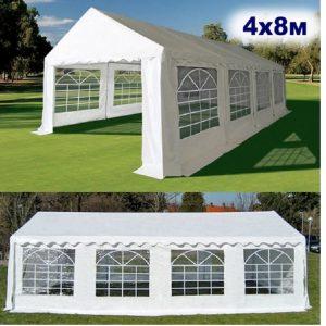 """Шатер-павильон садовый """"AFM-1027W White"""" (4х8)"""