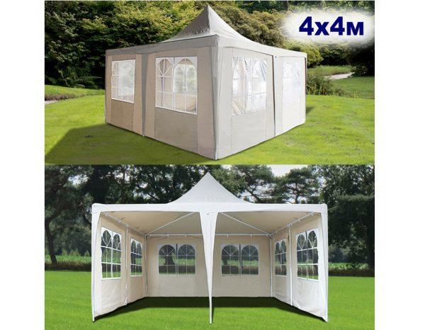 """Шатер-павильон садовый 4×4 """"AFM-1032F"""", белый"""