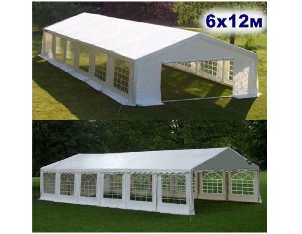 """Шатер-павильон садовый 6×12 """"AFM-15612A"""", белый"""