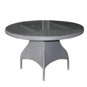 Стол из ротанга круглый «Ninja grey» D 120 Brafab