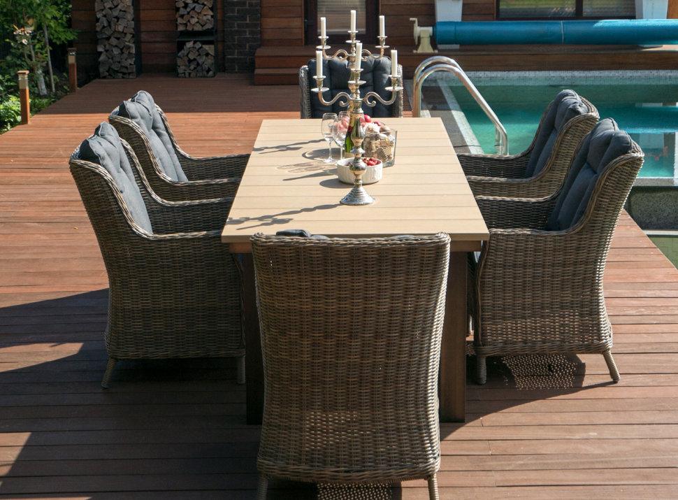 Стол садовый «Парклэнд», 240×100 см, цвет коричневый