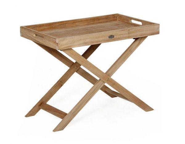 """Столик с подносом из тика """"Turin"""", высота 55 см"""