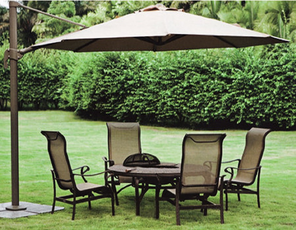 "Садовый зонт ""GardenWay А002-3500"", цвет бежевый"