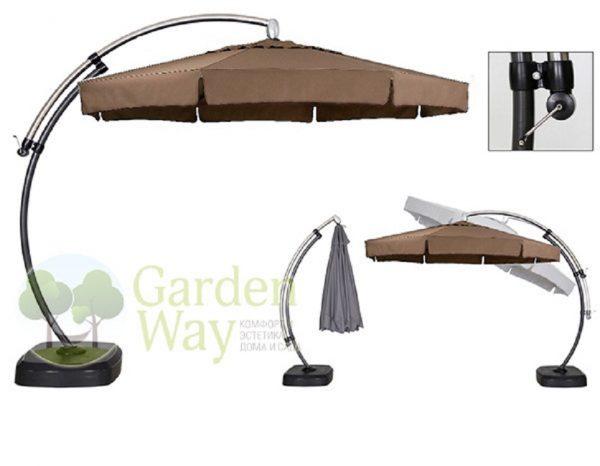 "Садовый зонт ""GardenWay А011-3030"", цвет бежевый"